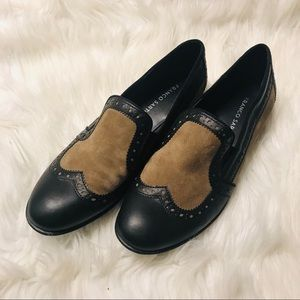 Franco Sarto black/brown leather loafers